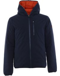 Save The Duck Reversible Waterproof Padded Jacket - Blue