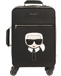 Karl Lagerfeld K/ikonik Suitcase - Black