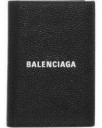 Balenciaga Logo Print Bi-fold Wallet - Black