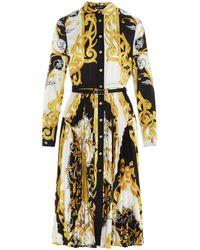 Versace Baroque Pleated Dress - Multicolour