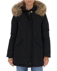 Woolrich Fur Trim Down Jacket - Black