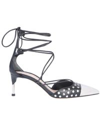 Alexander McQueen Self-tie Ankle Sandals - Black
