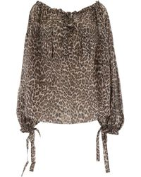 Zimmermann Leopard-printed Blouse - Brown