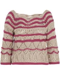 Alberta Ferretti Open-knit Sweater - Multicolor