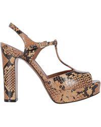 L'Autre Chose T-bar Platform Sandals - Brown