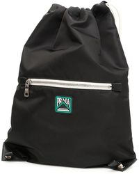 Prada Drawstring Backpack - Black