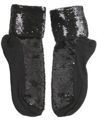 Saint Laurent Embellished Socks - Black