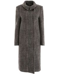 Stella McCartney Chevron Coat - Black
