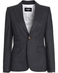 DSquared² Pinstripe Single-breasted Two-piece Suit - Grey