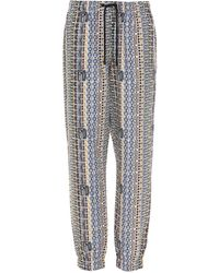 Fendi Logo Motif Drawstring Pants - Multicolor