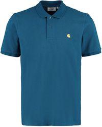 Carhartt WIP Logo Embroidered Polo Shirt - Blue