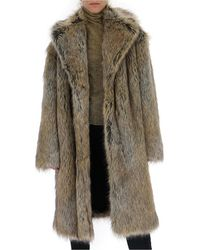 Philosophy Di Lorenzo Serafini Maxi Faux-fur Coat - Black