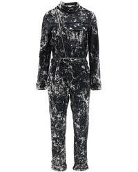 Stella McCartney Holly Galaxy-wash Belted Denim Jumpsuit - Black