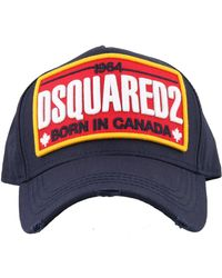 DSquared2 Logo Embroidered Cap - Blue