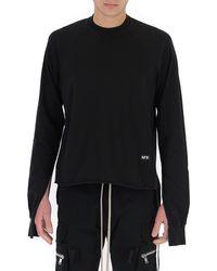 Rick Owens DRKSHDW Sleeve Cut Out Sweatshirt - Black