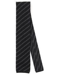 Tom Ford Knit Stripe Tie - Black