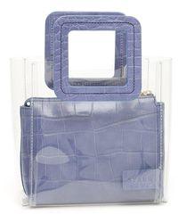 STAUD Mini Shirley Tote Bag - Blue