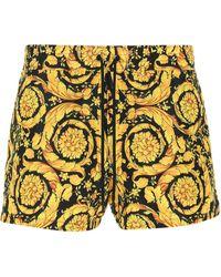 Versace Barocco Print Swim Shorts - Yellow