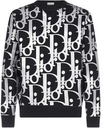 Dior Oversized Reflective Oblique Jumper - Black