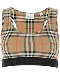 Burberry Vintage Check Sports Bra - Multicolour
