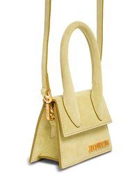 Jacquemus Le Chiquito Handbag In Green Suede