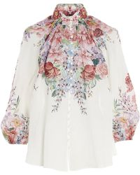 Zimmermann Bellitude Floral Blouse - White