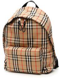 Burberry Vintage Check Backpack - Natural