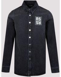 Raf Simons Slim Fit Denim Shirt - Blue