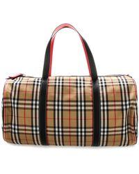 Burberry Large Vintage Check Barrel Bag - Multicolour