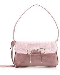 RED Valentino Redvalentino Bow Embossed Shoulder Bag - Pink