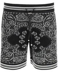Amiri Bandana Crochet B-ball Shorts - Black