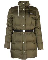 Miu Miu Belted Puffer Down Jacket - Green
