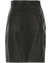 Max Mara Manila Embossed Mini Skirt - Black