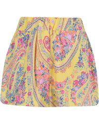 Etro - Paisley Printed Shorts - Lyst