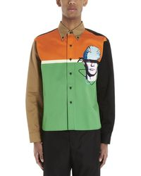 Prada Colour-block Face Shirt - Green