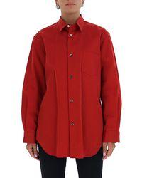 Junya Watanabe Oversized Button Up Shirt - Red