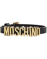 Moschino Logo Adjustable Bracelet - Black