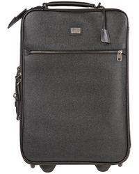 Dolce & Gabbana Luggage Trolley Suitcase - Black
