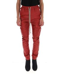 Rick Owens Drawstring Cargo Trousers - Red