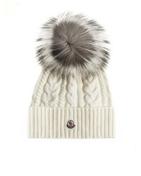 Moncler Pompon Wool And Cashmere Beanie - Multicolour