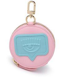 Chiara Ferragni Logo Embossed Circle Coin Purse - Pink