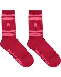 Alexander McQueen Skull Sport Socks - Pink