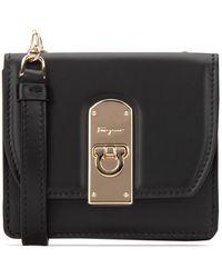 Ferragamo Small Boxyz Wallet - Black