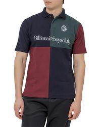 BBCICECREAM Panelled Logo Embroidered Polo Shirt - Blue
