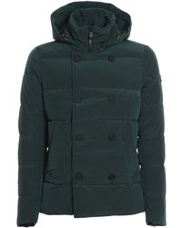 Save The Duck Crepe Effect Padded Jacket - Green