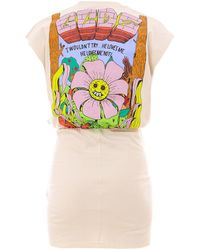 Gcds Bad Flower Print Wrap Dress - Natural