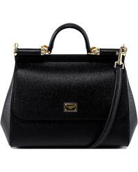 Dolce & Gabbana Medium Sicily Shoulder Bag - Black