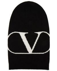 Valentino Vlogo Beanie - Black