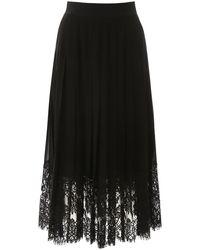 Dolce & Gabbana Dolce & Gabbana Midi Skirt With Lace - Black