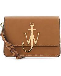 JW Anderson Anchor Logo Braided Strap Crossbody Bag - Brown
